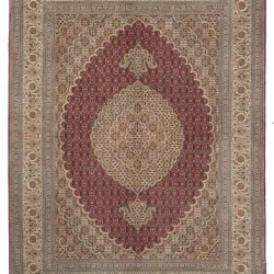 "New Persian Mahi Tabriz Rug 5'0""×6'10"""