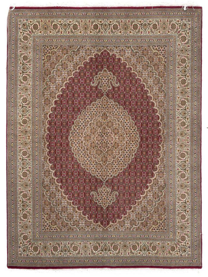 "New Persian Mahi Tabriz Rug 5'0""×6'10"""