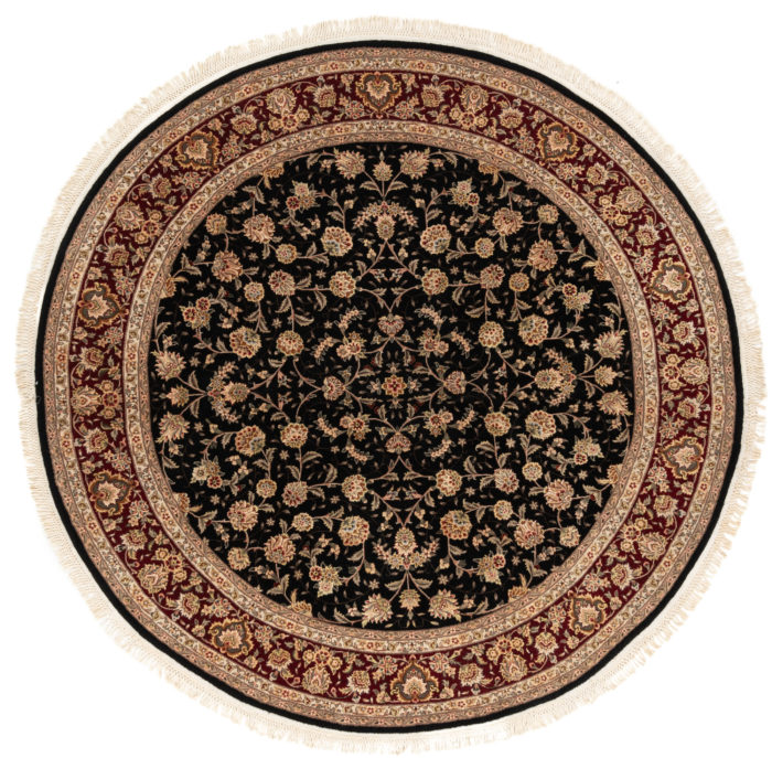 "New Persian Round Floral Field Rug 7'0""×7'2"""