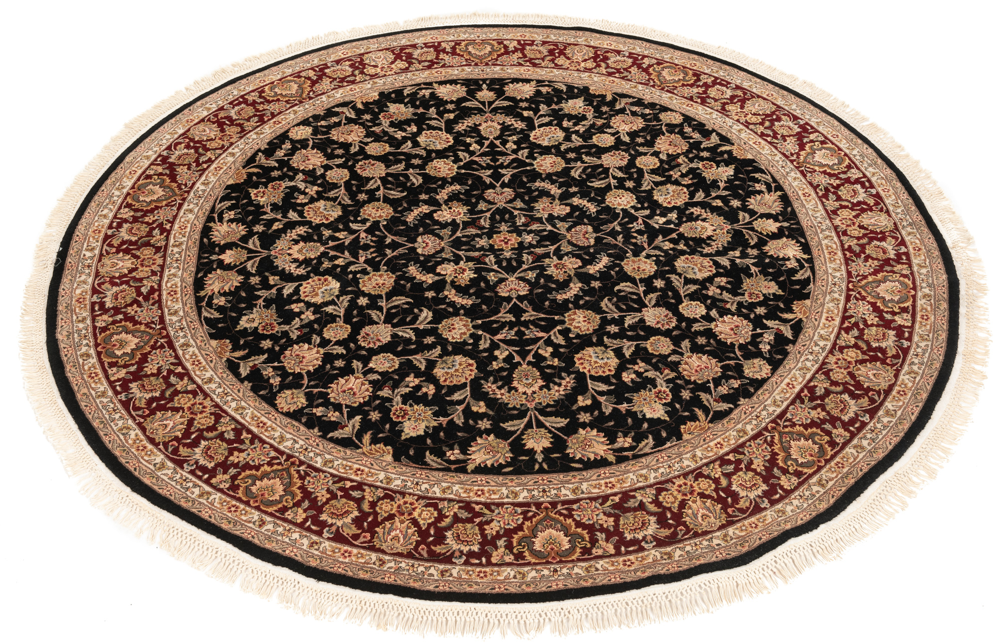 """New Persian Round Floral Field Rug  7'0""""×7'2"""""""