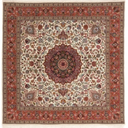 "New Persian Tabriz Rug 8'3""×8'5"""