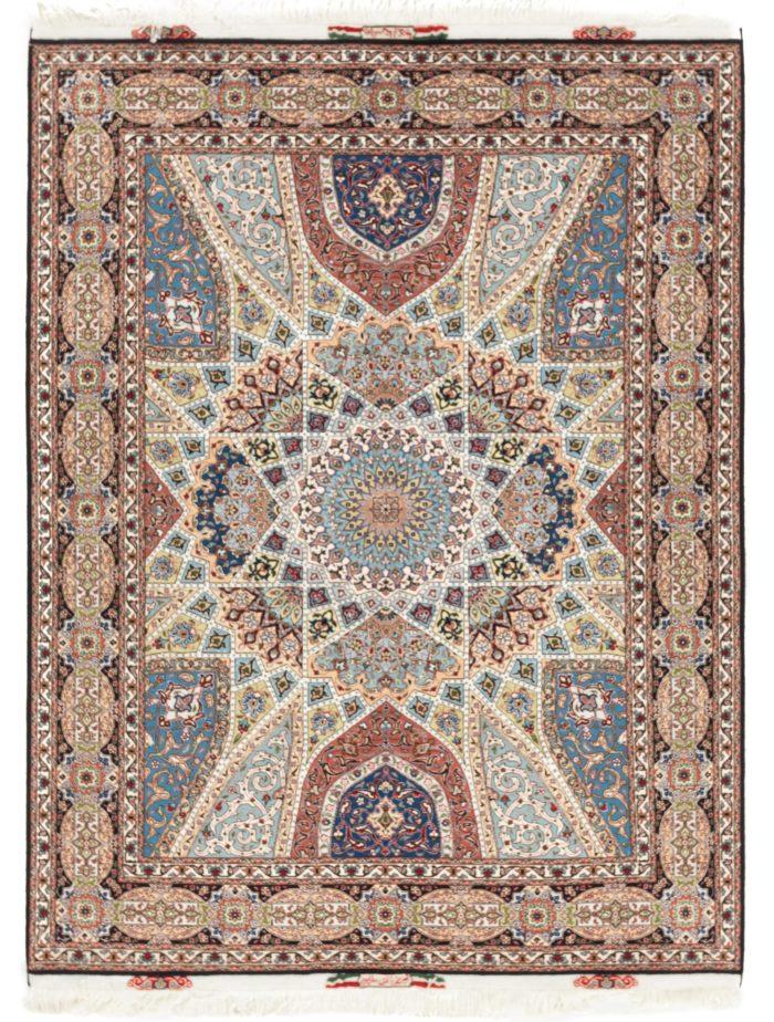 "New Persian Tabriz Rug 5'0""×6'6"""