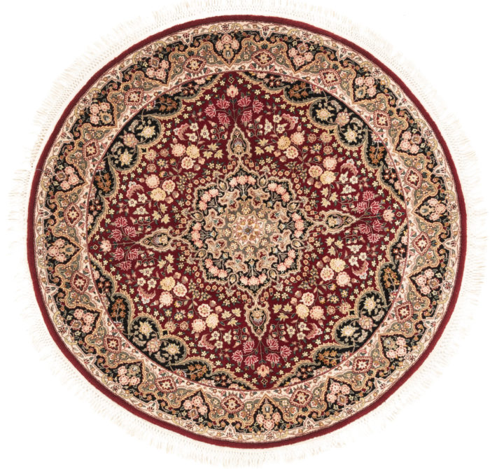 "New Sino-Persian Round Floral Central Medallion Rug 5'1""×5'1"""