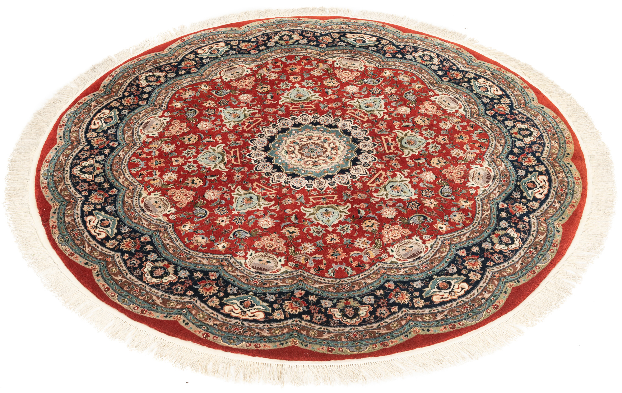 "New Sino-Persian Round Floral Central Medallion Rug 6'0""×6'0"""