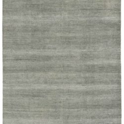 "New Transitional Room Size Wool Rug Hand-Woven with a Cotton Foundation 6'1""×9'4"""