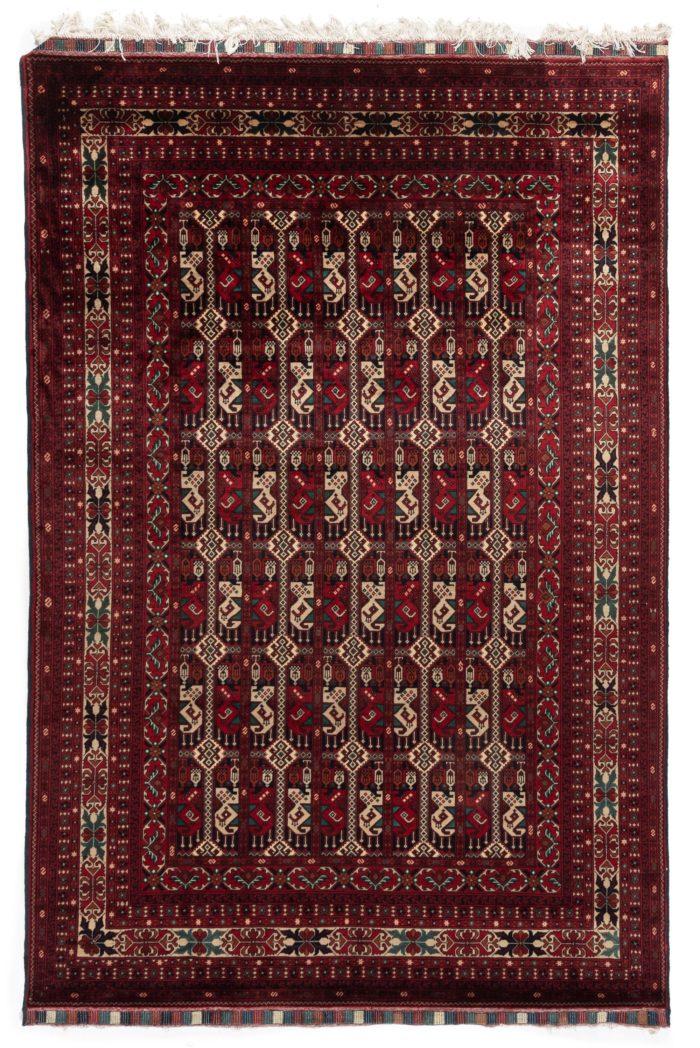 """New Turkoman Rug 5'4""""×8'0"""""""