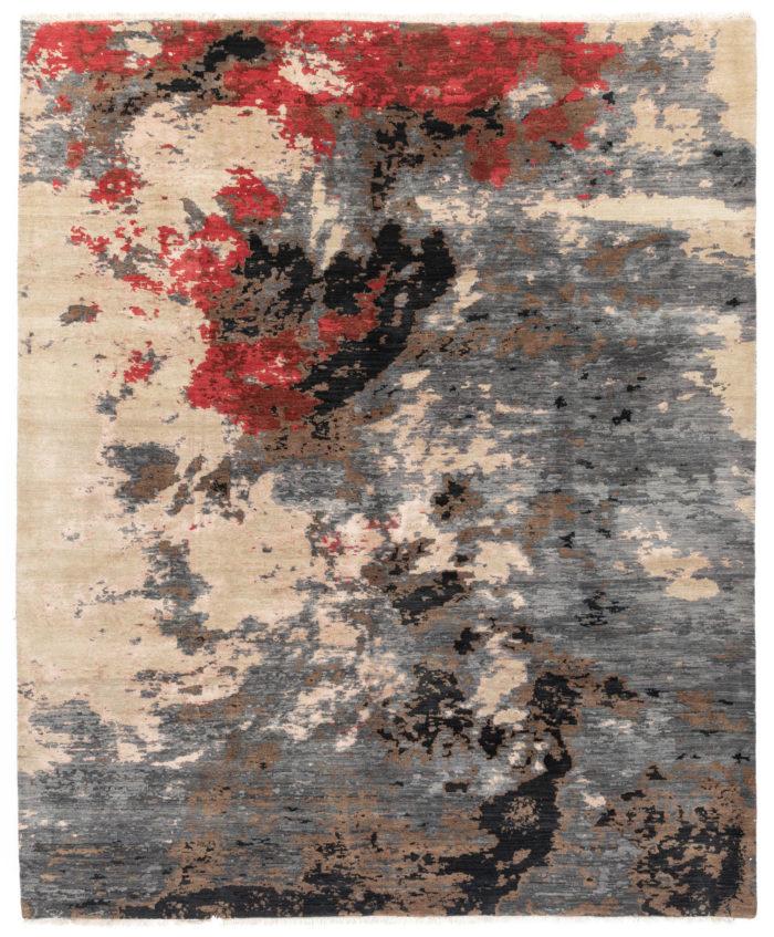 "New Wool & Silk Indo Ikats 8'1""×9'10"""