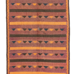 "Semi-Antique Afghan Belouchi Tribal Kilim 6'0""×11'10"""