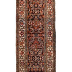 "Semi-Antique Bibikabad Rug 3'5""×13'6"""