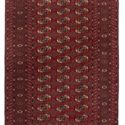 "Semi-Antique Bokhara Tribal Rug 4'6""×6'5"""