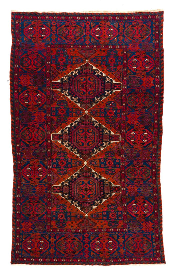 "Semi-Antique Caucasian Soumak 7'7""×12'4"""