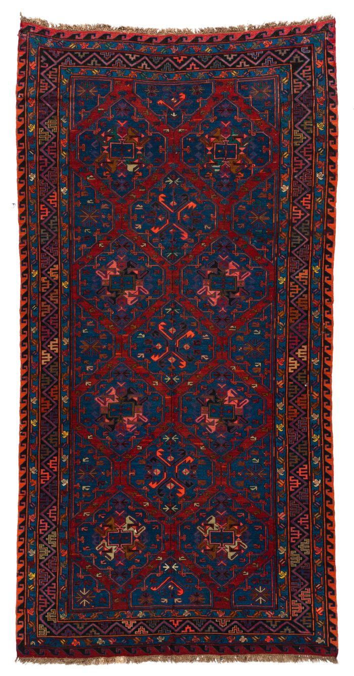 "Semi-Antique Caucasian Soumak 6'5""×12'5"""