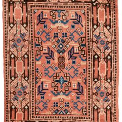 "Semi-Antique Central Asian Khotan 4'2""×6'4"""