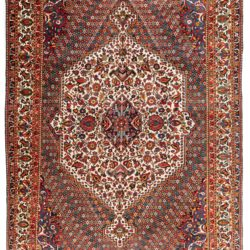 "Semi-Antique Central Medallion Floral Rug 8'6""×12'9"""
