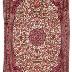 "Semi-Antique Central Medallion Floral Rug 7'4""×10'11"""