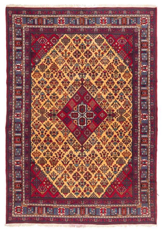 "Semi-Antique Diamond Medallion Rug 9'0""×12'11"""