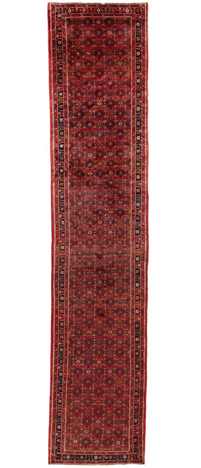 """Semi-Antique Hamadan Rug 3'8""""×17'3"""""""