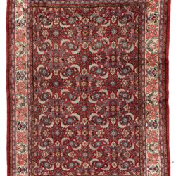 "Semi-Antique Herati Sultanabad Persian Rug 7'1""×9'9"""