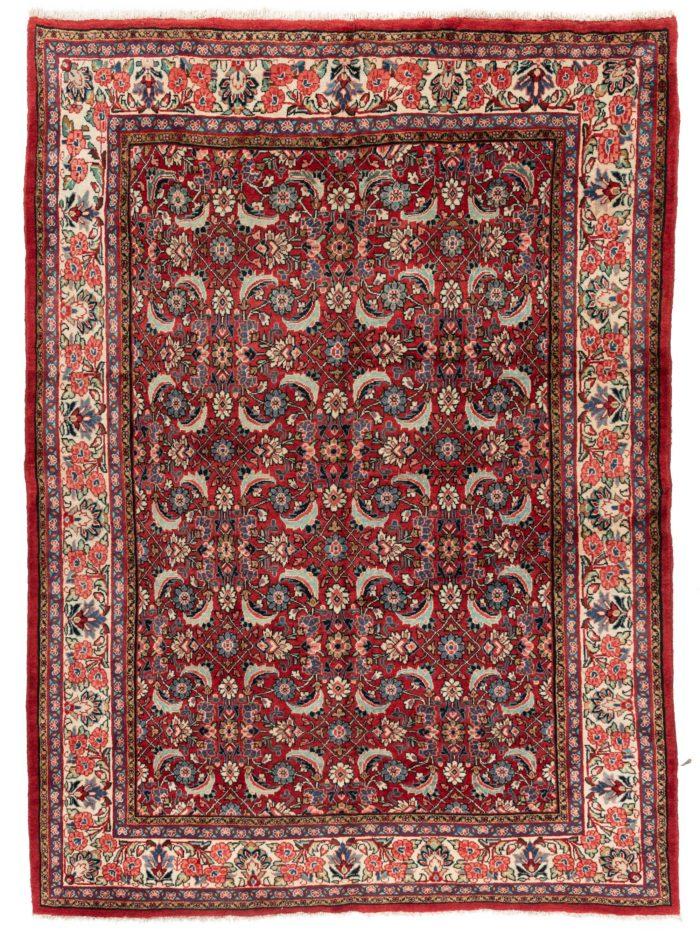 """Semi-Antique Herati Sultanabad Persian Rug 7'1""""×9'9"""""""