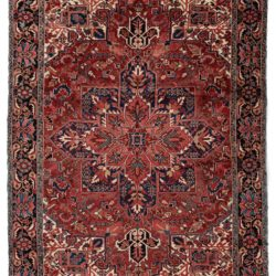 "Semi-Antique Heriz Rug 8'6""×11'8"""