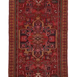 "Semi-Antique Heriz Rug 2'9""×8'3"""