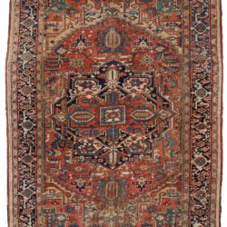 "Semi-Antique Heriz Rug 8'7""×11'5"""