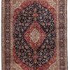 """Semi-Antique Kashan Floral Rug 8'7""""×11'10"""""""