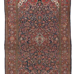 "Semi-Antique Kashan Rug 4'5""×7'3"""