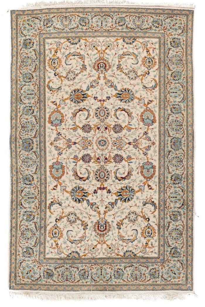"Semi-Antique Kashan Rug 4'7""×7'0"""