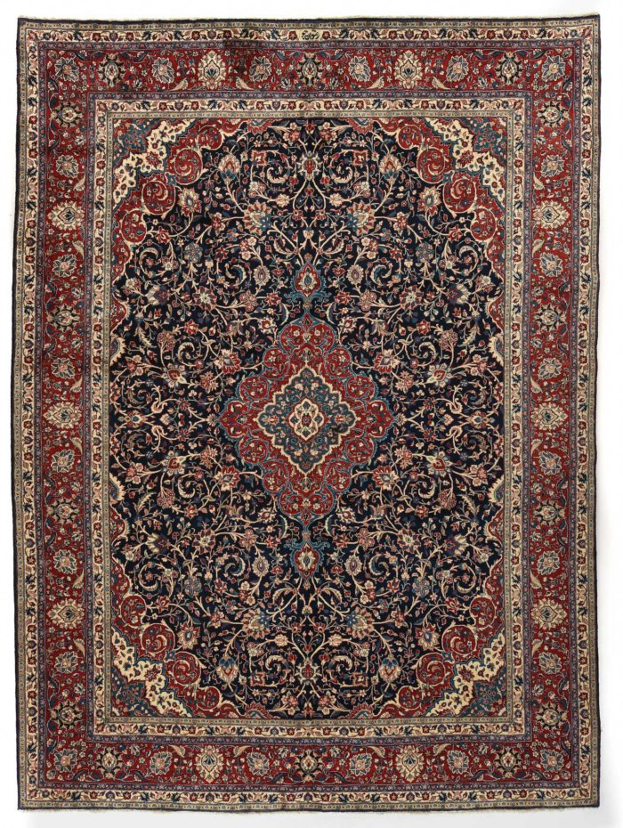 "Semi-Antique Kazvin Rug 9'0""×12'3"""
