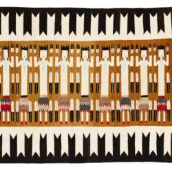 """Semi-Antique Navajo Weaving 5'6""""×7'9"""""""