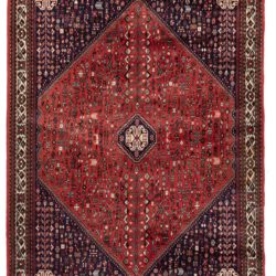 "Semi-Antique Persian Abadei Rug 6'8""×9'7"""