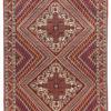 "Semi-Antique Persian Afshar Rug 4'3""×6'5"""