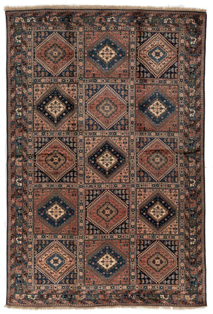 "Semi-Antique Persian Aliabad Yalameh 6'8""×10'0"""