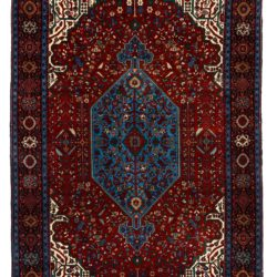 "Semi-Antique Persian Bidjar 4'5""×6'11"""