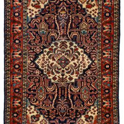 "Semi-Antique Persian Borchalu 4'7""×6'6"""