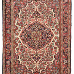 "Semi-Antique Persian Borchalu Rug 4'8""×6'5"""