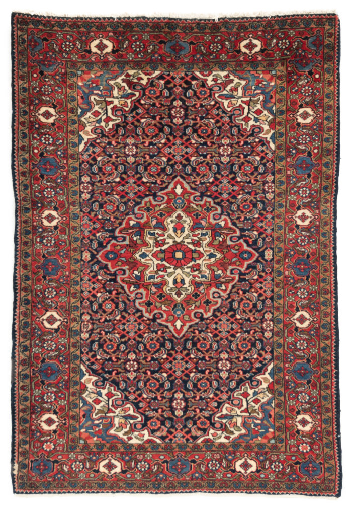 "Semi-Antique Persian Enjelas Rug 4'9""×6'10"""