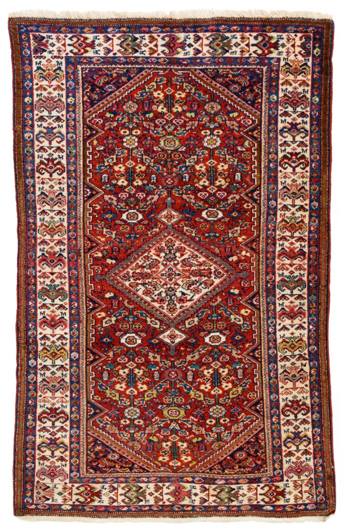 "Semi-Antique Persian Faraghan 4'3""×6'7"""