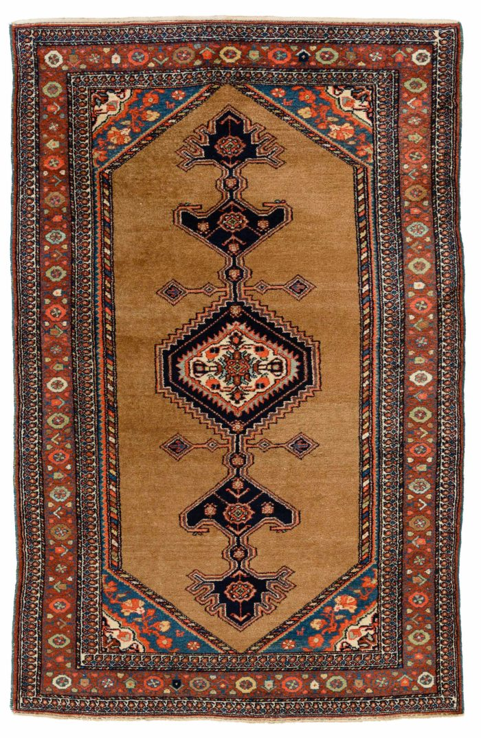 "Semi-Antique Persian Hamadan 4'8""×7'1"""