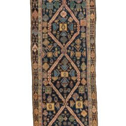 "Semi-Antique Persian Hamadan Runner 3'10""×13'9"""