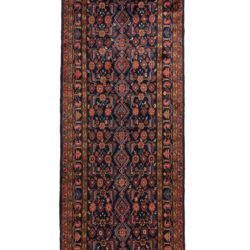 "Semi-Antique Persian Herati Malayer 3'8""×13'9"""