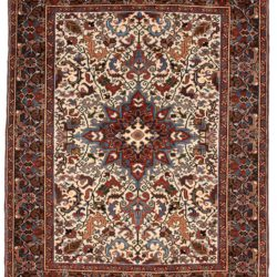 "Semi-Antique Persian Heriz 5'4""×6'10"""