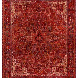 "Semi-Antique Persian Heriz 12'0""×14'5"""