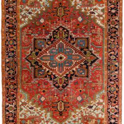 "Semi-Antique Persian Heriz 8'1""×11'6"""