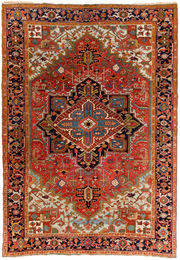 "Semi-Antique Persian Heriz 8'1""×11'6"""