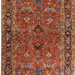 "Semi-Antique Persian Heriz 7'5""×10'0"""