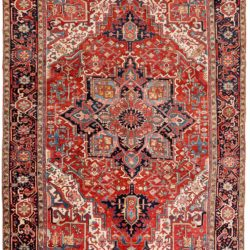 "Semi-Antique Persian Heriz 8'11""×12'6"""