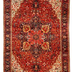 "Semi-Antique Persian Heriz 11'6""×18'7"""