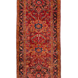 "Semi-Antique Persian Heriz Runner 4'0""×10'1"""